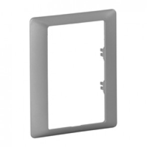 Plate Valena Life - single plate - specific 2x2P+E double socket outlet - alu