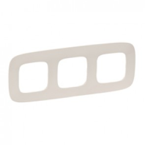 Plate Valena Allure - 3 gang - ivory