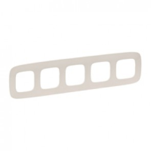 Plate Valena Allure - 5 gang - ivory