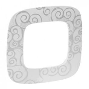 Plate Valena Allure - 1 gang - narcis chrome