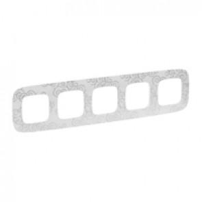 Plate Valena Allure - 5 gang - narcis chrome