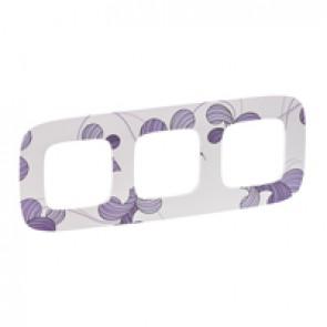 Plate Valena Allure - 3 gang - flora