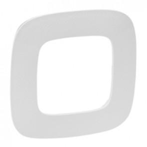 Plate Valena Allure - 1 gang - white zen