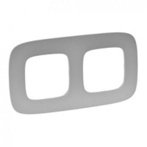 Plate Valena Allure - 2 gang - aluminium