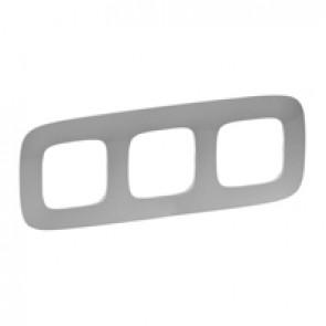 Plate Valena Allure - 3 gang - aluminium