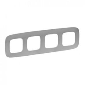 Plate Valena Allure - 4 gang - aluminium
