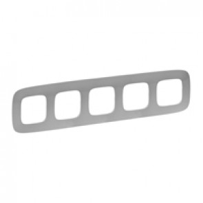 Plate Valena Allure - 5 gang - aluminium