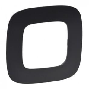Plate Valena Allure - 1 gang - matt black