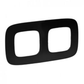 Plate Valena Allure - 2 gang - matt black