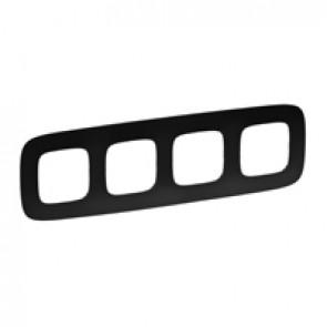 Plate Valena Allure - 4 gang - matt black