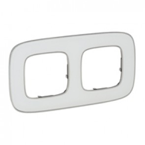 Plate Valena Allure - 2 gang - white mirror