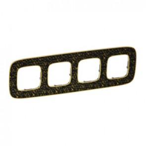 Plate Valena Allure - 4 gang - black barroque