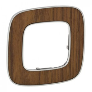 Plate Valena Allure - 1 gang - walnut