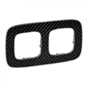 Plate Valena Allure - 2 gang - carbon
