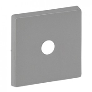 Cover plate Valena Life - energy saving switch - aluminium