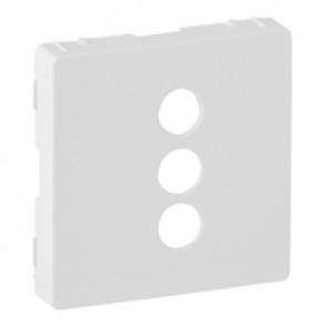 Cover plate Valena Life - triple RCA socket - white