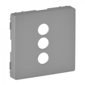 Cover plate Valena Life - triple RCA socket - aluminium