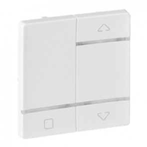 Cover plate for radio control roller blind switch Valena Life - white