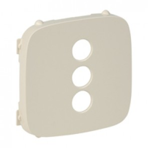 Cover plate Valena Allure - triple RCA socket - ivory