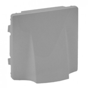 Cover plate Valena Life - cable outlet - aluminium