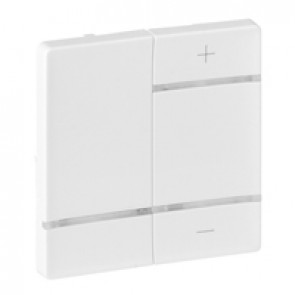 "Cover plate for radio control dimmer Valena Life - marking ""+"" and ""-"" - white"