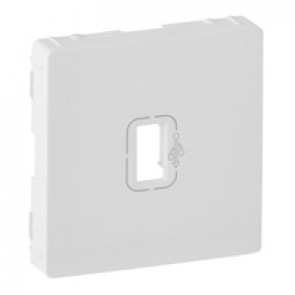 Cover plate Valena Life - preconnected female USB socket - white