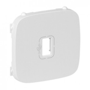 Cover plate Valena Allure - preconnected female USB socket - white
