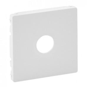 """Cover plate Valena Life - male/""""F"""" type TV socket - white"""