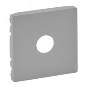 "Cover plate Valena Life - male/""F"" type TV socket - aluminium"