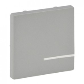 Cover plate for wireless switch Valena Life - 1 circuit - aluminium