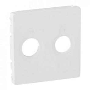 Cover plate Valena Life - TV-R socket - white