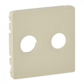 Cover plate Valena Life - TV-R socket - ivory