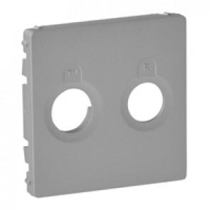 Cover plate Valena Life - TV-R socket - aluminium