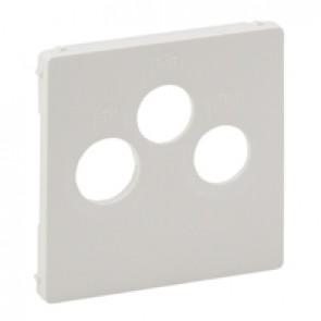 Cover plate Valena Life - TV-R-SAT socket - white