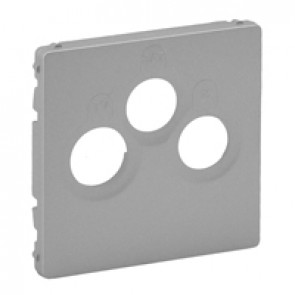 Cover plate Valena Life - TV-R-SAT socket - aluminium