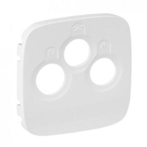 Cover plate Valena Allure - TV-R-SAT socket - white