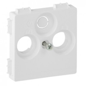Cover plate Valena Life - TV-R-SAT 30 mm socket cover - white
