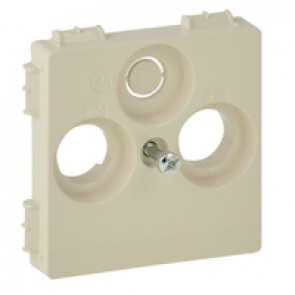 Cover plate Valena Life - TV-R-SAT 30 mm socket cover - ivory