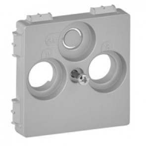 Cover plate Valena Life - TV-R-SAT 30 mm socket cover - aluminium