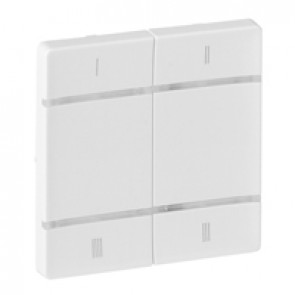 Cover plate for wireless scenario control Valena Life - 4 push-buttons - white