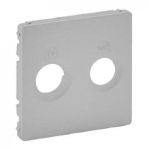 Cover plate Valena Life - TV-SAT socket - aluminium