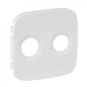 Cover plate Valena Allure - TV-SAT socket - white