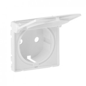 Cover plate Valena Life - 2P+E socket - German standard - with flap - white