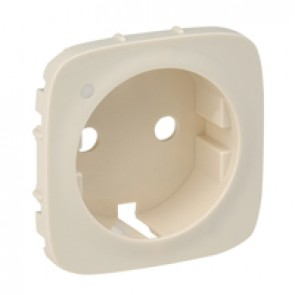 Cover plate Valena Allure - 2P+E socket - with indicator -German standard -ivory