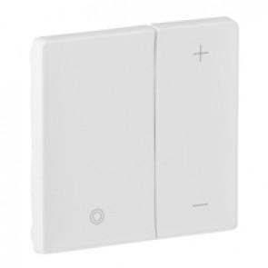 Cover plate Valena Life - universal + for 1-10 V ballast dimmer - white