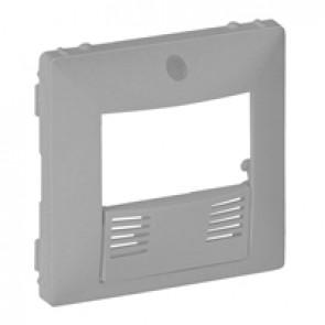 Cover plate Valena Life - dual technology presence sensor - aluminium