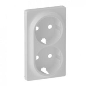 Cover plate Valena Life - 2x2P+E socket - German standard - white