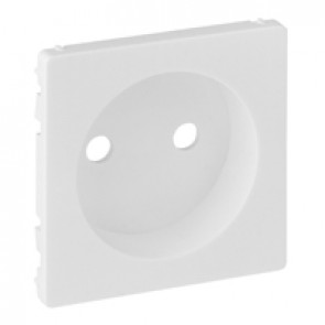Cover plate Valena Life - 2P socket with shutters - automatic terminals - white