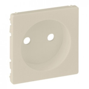 Cover plate Valena Life - 2P socket with shutters - automatic terminals - ivory