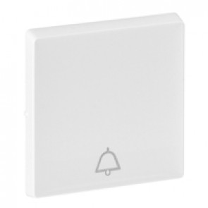 Cover plate Valena Life - push-button - bell symbol - white